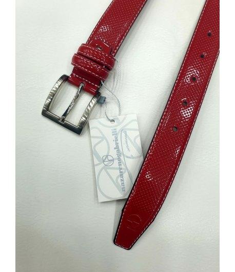 Cintura Cerimonia Bimbo Bambino, Colore Rosso in Ecopelle, Nazareno Gabrielli