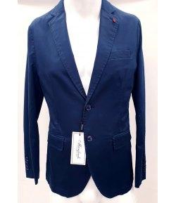 Giacca Uomo Casual e Cerimonia, Modello Slim, Colore Blu in Cotone Elasticizzato, Manfredi