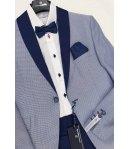 Completo Taglio Smoking Bimbo Colore Blu e Bianco Nazareno Gabrielli