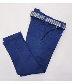 Pantaloni Casual e Cerimonia Bimbo e Bambino, Slim Elasticizzati, Colore Blu in Cotone, Rebel