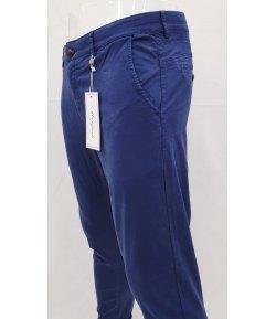 Pantalone Uomo/Ragazzo Manfredi Slim Elasticizzato Colore, Bluette