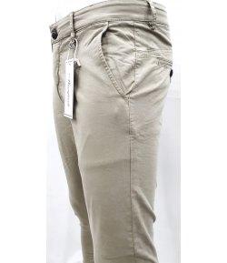 Pantalone Uomo/Ragazzo Manfredi Slim Elasticizzato Colore, Beige