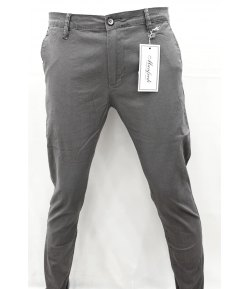 Pantalone Uomo/Ragazzo Manfredi Slim Elasticizzato Colore, Grigio in Microfantasia