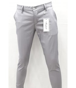 Pantalone Uomo/Ragazzo Manfredi Slim Elasticizzato Cerimonia Casual Colore,Grigio