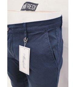 Pantalone Uomo/Ragazzo Manfredi Slim Elasticizzato Colore, BLU