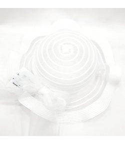 Cappello Copricapo Cerimonia Casual Baby/Bambina