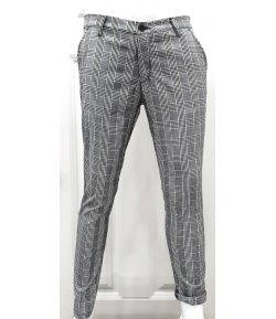 Pantalone Uomo Manfredi in Cotone Elasticizzato Colore, Grigio