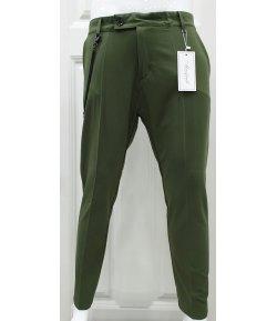 Pantalone Uomo Manfredi in Cotone Elasticizzato Colore, Verde