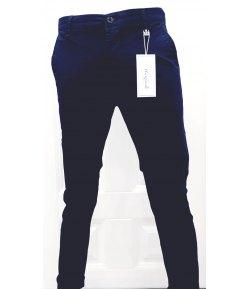 Pantalone Uomo/Ragazzo Manfredi Slim Elasticizzato Colore,Blu