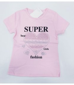 T-shirt Bambina Marca Pink Baby in Cotone