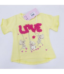 T-shirt Bambina Marca Angel in Cotone