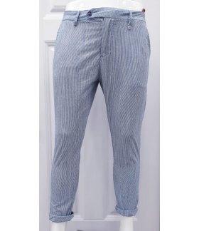 Pantalone Uomo Manfredi in Cotone Elasticizzato Colore Grigio