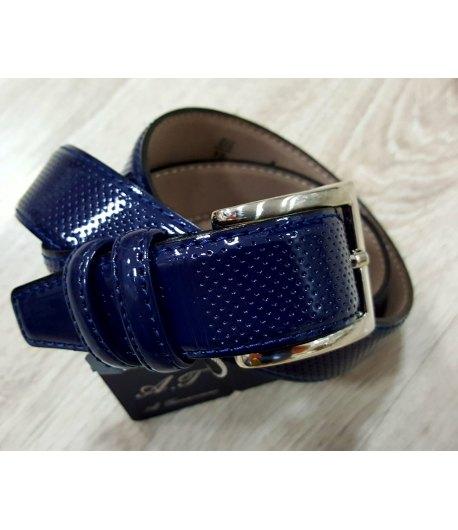Cintura Cerimonia Bimbo Bambino, Colore Blu in Ecopelle, Manfredi